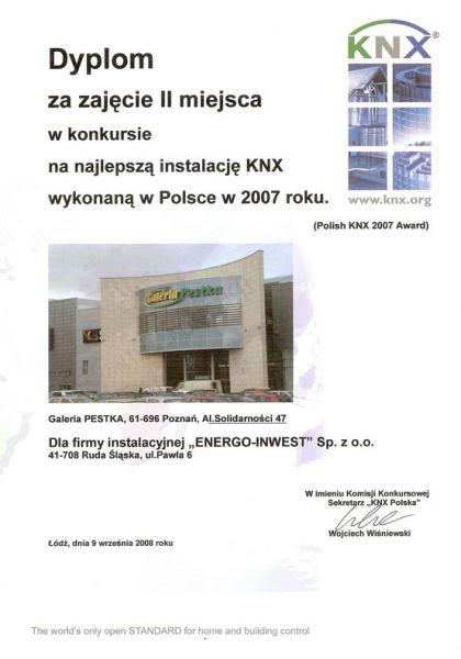 II miejsce w konkursie na najlepszą instalację KNX wykonaną w Polsce